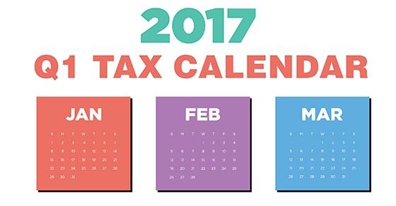 2017 Q1 Tax Calendar